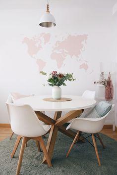 Decorar con un mapamundi ¡Paredes llenas de estilo! | Decorar en familia | DEF Deco