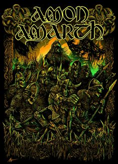 metal, nature, epic quilting, brutal crafts and extreme artwork. Heavy Metal Rock, Heavy Metal Bands, Death Metal, Thy Art Is Murder, Viking Metal, Amon Amarth, Rock Poster, Extreme Metal, Vegvisir