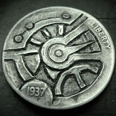 Eric Truitt - Timepiece Hobo Nickel, Cactus, Coins, Personalized Items, Art, Drawings, Art Background, Rooms, Kunst