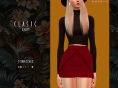 Clasic Skirt by EnriqueSims at Heavendy-cc • Sims 4 Updates