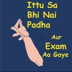 Final Exams Tension..... :) by tarun_malhotra2020 Exam Over Quotes, Exam Quotes Funny, Exams Funny, Funny Quotes In Hindi, Cute Funny Quotes, Flirting Quotes, Jokes Quotes, Qoutes, Funny Dp