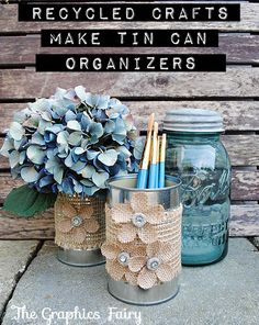 My awesome friend Karen at The Graphics Fairy shares with us how to make beautiful organizers from Recycled Tin Cans!  If you don't already know the treasures contained over at The Graphics Fairy, ...