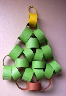 Sunbeam Yellow: Paper Chain Christmas Tree