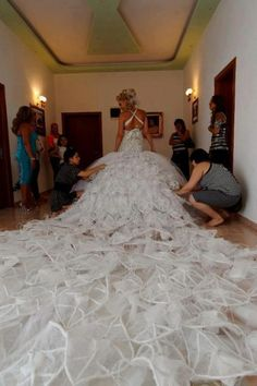 My wedding gown w/my baby bella julia