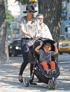 Miranda Kerr Takes Flynn Out In New York