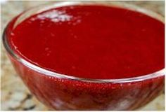 Raspberry Sauce--Such a festive red color. Great topping for desserts like ice cream and cheesecake. Raspberry Puree Recipes, Raspberry Sauce, Pureed Food Recipes, Sauce Recipes, Cooking Recipes, Raspberry Vinegarette, Raspberry Popsicles, Raspberry Cobbler, Raspberries