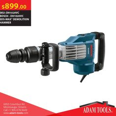 Great deals here at Adam Tools Inc. Get the Bosch DH1020VC SDS-MAX Demolition Hammer for just $899!  Visit our website for more information and special offers  https://www.adam-tools.com/dh1020vc-sds-maxr-demolition-hammer.html #canada #mississuaga #power_tools #building_supplies #adamtools #shop_online #buy_online #BoschTool #Powertools #tools #Boschtools #Hammer #DH1020VC