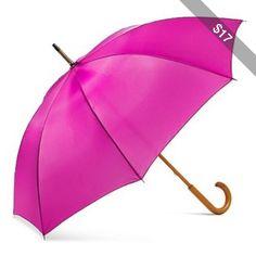 ShedRain Solid Wood Stick Umbrella - Hot Pink