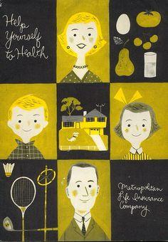 Metropolitan Insurance pamphlet cover by JP Miller. 1956