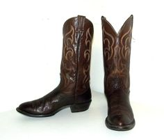 Used cowboy boots - http://www.etsy.com/listing/157298437/brown-leather-western-cowboy-boots-size?ref=shop_home_active_16