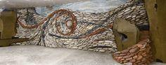 The Ancient Art Of Stone: Couple Creates Beautiful Rock Wall Art Installations (Bored Panda) Pebble Mosaic, Stone Mosaic, Pebble Art, Mosaic Art, Mosaic Glass, Rock Mosaic, Pierre Decorative, Stone Wall Design, Art Pierre