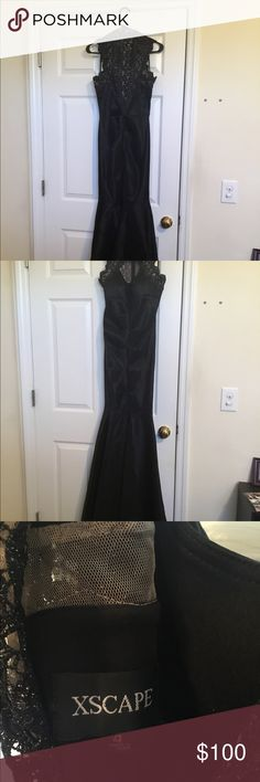 Size 4 Black Dress Xscape Size 4 Black Xscape dress! Perfect for prom, formal, military ball, NYE, or any special occasion! Xscape Dresses Prom