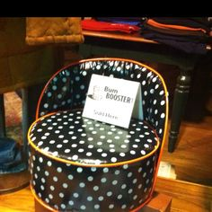 Bumbooster Oilcloth Booster Seat... fun for dinner at home or out to eat, movie theaters, getting your hair cut... and much much more!!!