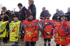Les petits de la maternelle de la Chaume se sont transformés en toiles de peinture inspirées de Miro. - estelle bardelot