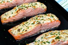 Parmesan Crusted Salmon -- Easy prep and a short list of ingredients make this recipe as perfect for entertaining as it is for a delicious weeknight meal!