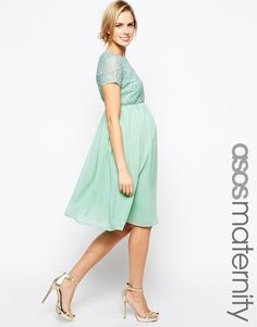 ASOS Maternity | ASOS Maternity Exclusive Embellished Midi Dress at ASOS