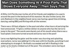 Man Does Something At A Pool Party That Blows Everyone Away. Then Says This.