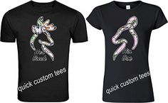 b66ac2bcb You are viewing a His Doe   Her Bucks cute matching couples t-shirts. These  T-Shirts come in black