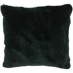 Luxurious Down Filled Green Genuine Sheared Beaver Throw Pillows