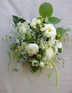 hedgerow-chic bouquet of white peonies and grasses