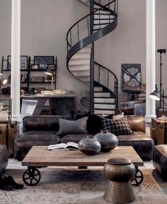 Cool 41 Cool Industrial Living Room Designs Ideas. More at https://homenimalist.com/2018/02/23/41-cool-industrial-living-room-designs-ideas/