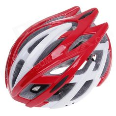 TITANS CG03DG-008 Outdoor Bicycle Cycling Helmet - Red   White (Size-L) Price: $25.20