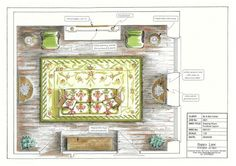 Furniture Plans Furniture plans And include table plans Browse By Category Architectural Elements Beds Bedroom Featured Plan Morris Chair Interior Design Renderings, Interior Design Boards, Interior Rendering, Interior Paint, Drawing Room Colour, Drawing Room Design, Drawing Drawing, Georgian Interiors, Georgian Homes