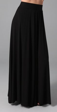 This jersey maxi skirt features ruching at the covered elastic waistband. 44""