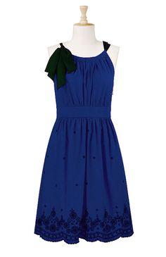 Eshakti Bow Tied Embellished Dress