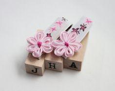 Baby girl/children/flower girl hair clips layered by JigulinsHA
