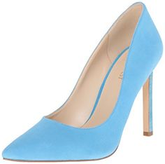 Nine West Women's Tatiana Leather Dress Pump, Turquoise Suede, 6.5 M US * Check this awesome product by going to the link at the image.