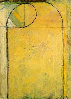 Richard Diebenkorn - 'Ocean Park Series' , #6  from the small Cigar Box Lid Series (painted in the 1970s), oil-on-wood