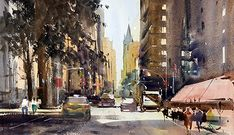 Artists in Wiltshire Watercolor Landscape Paintings, Watercolor Artists, Oil Paintings, Artist Life, Watercolors, Cities, Street View, Urban, Gallery