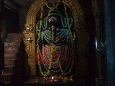 massive saligrama Ganesha Idol. The Ganesh Idol here is at least 12 feet long and 6 to 7 feet in width. This is a unique Lord Ganesha statue. This temple is located in Kurudumale in Mulabagalu taluk of Kolar district in Karnataka.