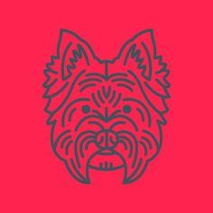 West Highland Terrier illustration by Steve Wolf for Golden Doodle. Steve Wolf, West Highland Terrier, Dog Houses, Goldendoodle, Dog Care, Artsy Fartsy, American Apparel, Dog Lovers, Rooster