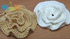 Crochet Ruche Petal Flower Made On Plate Tutorial 16 Part 1 of 2 - Sheru Studio