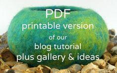 How to make a wet felt pod  Tutorial  Instant by rosiepinkStudio