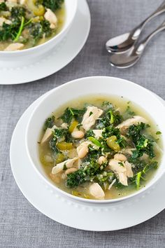 Slow Cooker Quinoa, Chicken and Kale Soup