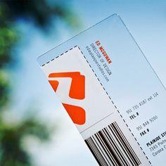Cartão visita transparente