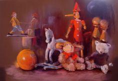Pastels, Painting, Childhood Memories, Toy, Board, Artist, Draw, Painting Art, Paintings
