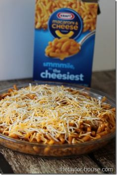 Mexican Mac & Cheese Casserole  I'm gonna make this with ground beef and homemade mac n cheese.