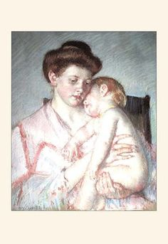 Mary Stevenson Cassatt (1844 – 1926) was an American painter and printmaker who lived in France. She was considered an impressionists but is best known in America for her children's illustrations.