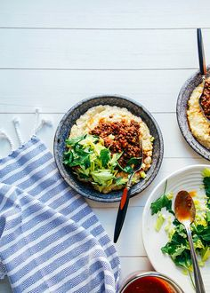 "vegan bbq lentils with millet ""polenta"" » the first mess"