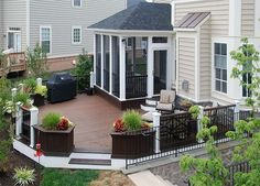 Custom Built Decks and Porches by Big Rock Construction Bristow Virginia