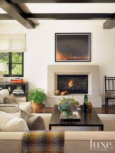 Geometric Contemporary Neutral Living Room | LuxeSource | Luxe Magazine - The Luxury Home Redefined