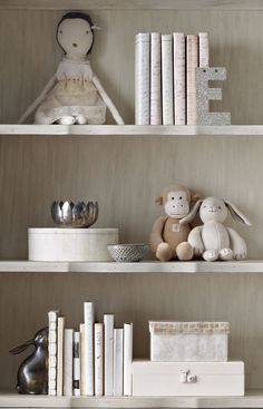 a carefully curated bookcase. the perfect place for a few of her favorite things. #rhbabyandchild