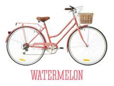 Vintage Ladies Womens Retro 6 Speed Classic Bicycle Bike Large Watermelon   eBay