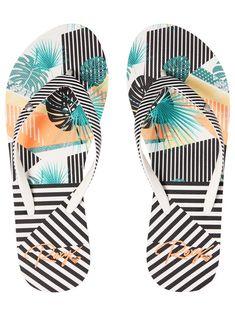 Cute Sandals, Flip Flop Sandals, Triathlon, Adidas Flip Flops, Comfortable Flip Flops, Floral Flip Flops, Floral Stripe, Roxy, Designing Women