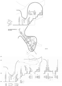 """News Body experiences study documents. Deadline this week are production drawings for the whole installation at """"Under An exhibition organized by The Norwegian National Museum of Art, Architecture and Design in the Sverre Fehn pavilion Movement Architecture, Architecture Design, Architecture Graphics, Architecture Drawings, Concept Architecture, Installation Architecture, Web Design, Design Art, Graphic Design"""