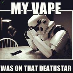 The struggle is real  #maythe4thbewithyou #starwars #starwarsfan #starwarsday #stormtrooper #vaporfi #vape #vapelife #vapeporn #vaping #vapenation #vapestagram #vapedaily #vapeon #vaper #vapefriends #instavape #vapepics #vapesociety #vapeallday #vapehard #vapemovement #vapefreely #cloudchaser #cloudchasing #ejuice #ejuices #driptip